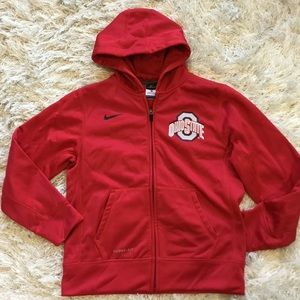 NIKE Boys size M OHIO STATE THERMA FIT HOODIE NEW